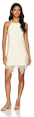 Love, Fire Love Fire Women's High Neck Lace Dress