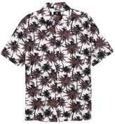 H&M Short-sleeved Shirt - White/palms - Men