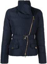 Versace asymmetric zip puffer jacket