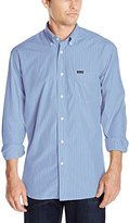 Façonnable Men's Classic Fit Exclusive Poplin Micro Stripe Woven