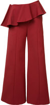 Rosie Assoulin pleated trim palazzo pants - women - Cotton/Polyamide/Spandex/Elastane - 4