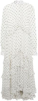 Zimmermann Ruffled Polka-dot Silk-georgette Midi Dress