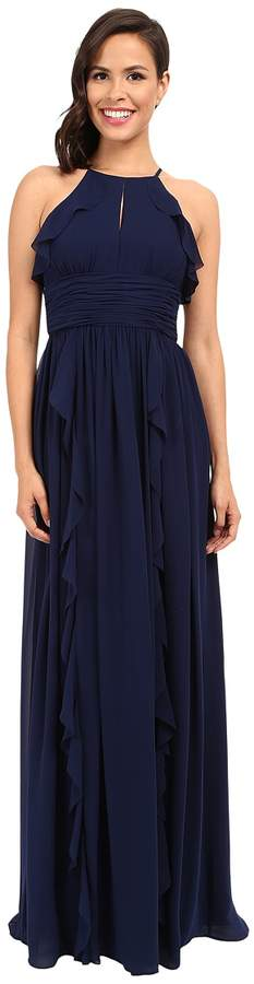 Donna Morgan Skye Cutaway Halter Gown Women's Dress