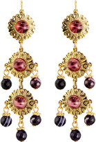 Jose & Maria Barrera Linear Triple-Drop Earrings, Purple