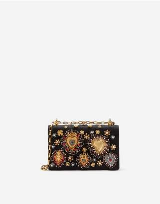 Dolce & Gabbana Girls Cross-Body Bag In Brocade With Appliques And Embroidery