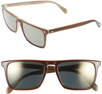 Oliver Peoples 'Bernardo' 54mm Polarized Square Sunglasses