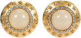 One Kings Lane Vintage 1980s Chanel Oversize Gripoix Earrings - Vintage Lux - yellow/gold