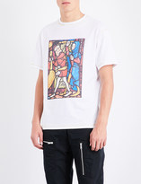 J.W.Anderson Stain glass-print cotton-jersey T-shirt