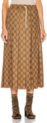 Gucci GG Midi Skirt in Vintage Camel | FWRD