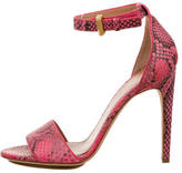 Calvin Klein Collection Python Ankle Strap Sandals w/ Tags