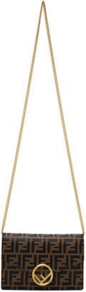 Fendi Black and Brown Forever Chain Shoulder Bag