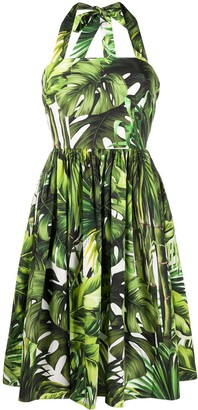 Dolce & Gabbana Jungle print halterneck dress