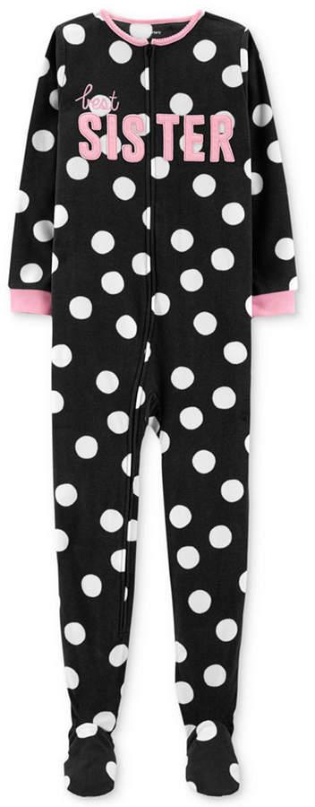 Carter's Carter Little & Big Girls Sister Dot-Print Pajamas