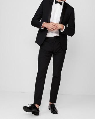 Express Extra Slim Black Wool-Blend Performance Tuxedo Pant