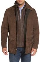 Peter Millar Men's Steamboat Leather Jacket With Genuine Shearling Lined Bib