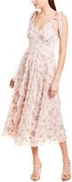 Rebecca Taylor Leander Silk-Blend Midi Dress