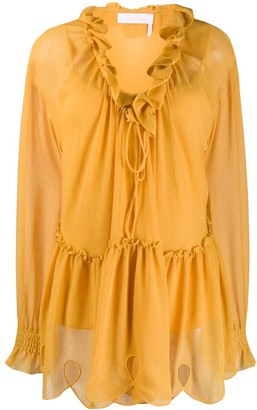 See by Chloe Ruffle-Trimmed Blouse