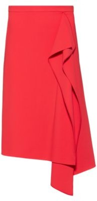 HUGO BOSS Pencil Skirt In Stretch Fabric With Drape Front - Red
