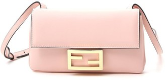 Fendi Logo Mini Baguette Crossbody Bag