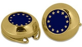 Forzieri Gold Plated European Flag Button Covers