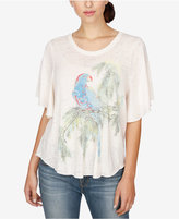 Lucky Brand Printed Elbow-Sleeve Top