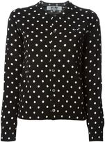 Comme des Garcons embroidered heart polka dot cardigan