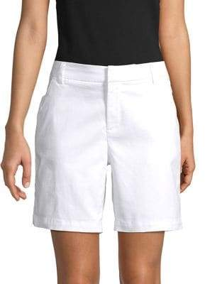 Lord & Taylor Stretch Flat-Front Shorts