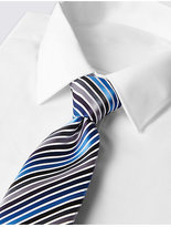 M&S Collection Satin Striped Tie