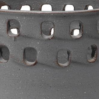 Lulu & Georgia Tessa Large Perforated Pot, Grey Ceramic