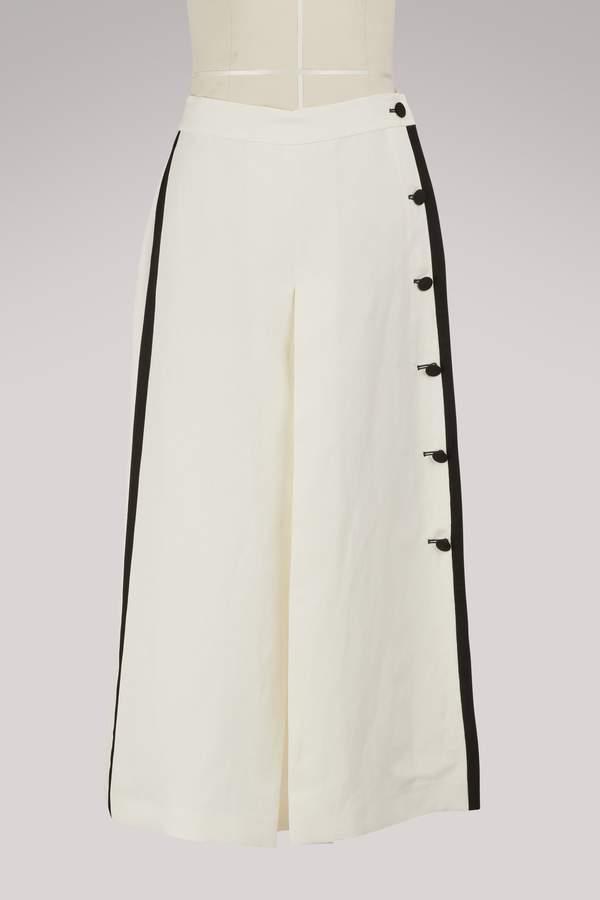 Max Mara Nievo linen culottes