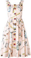 Dolce & Gabbana printed pinafore dress
