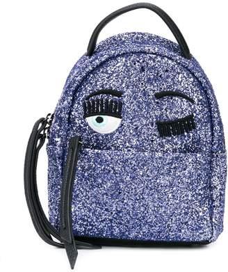 Chiara Ferragni Kids flirting eyes backpack