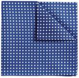 Charles Tyrwhitt Blue Oxford Spot Classic Silk Pocket Square