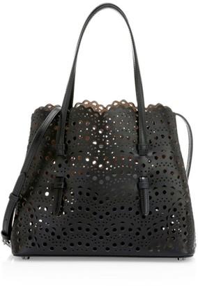 Alaia Mini Mina Perforated Leather Tote