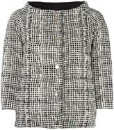 Herno high neck plaid jacket - women - Feather Down/Polyamide - 44