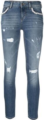 Liu Jo Distressed Low-Rise Skinny Jeans