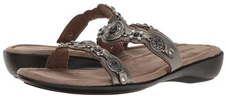 Minnetonka Boca Slide III (Black Leather) Women's Sandals