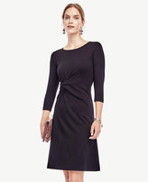 Ann Taylor Petite Ponte Twist Dress