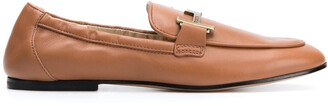 Tod's double-T leather loafers