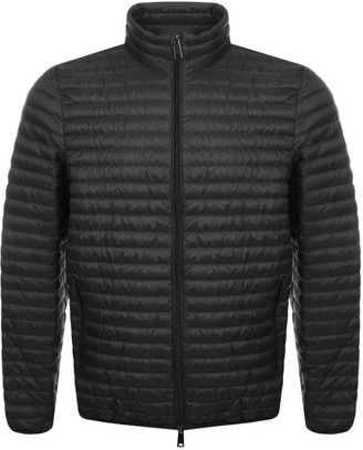 Giorgio Armani Emporio Quilted Down Jacket Grey