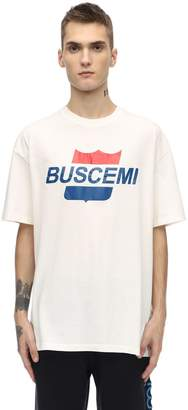 Buscemi Airline Printed Cotton Jersey T-shirt