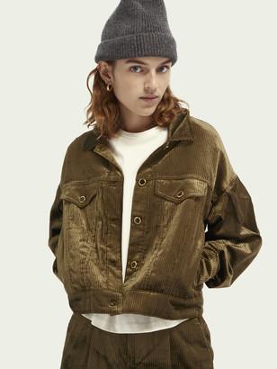 Scotch & Soda Balloon-sleeved cotton-blend corduroy trucker jacket   Women