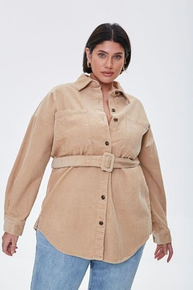 Forever 21 Plus Size Corduroy Belted Shacket