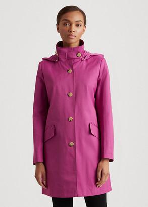 Ralph Lauren Cotton-Blend Hooded Coat