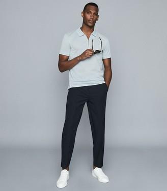 Reiss Jude - Mercerised PiquA Cotton Polo Shirt in Light Blue