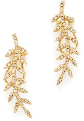 Rosa de la Cruz Ivy Gold Diamond Ear Cuffs Earring
