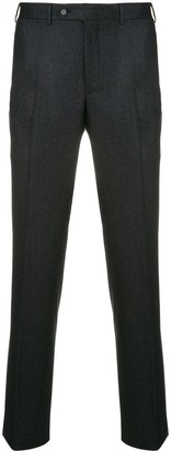 Canali creased slim-fit trousers
