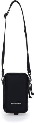 Balenciaga Logo Patch Crossbody Bag