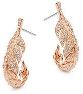 """Nadri Leaf Hoop Earrings/1.5"""""""