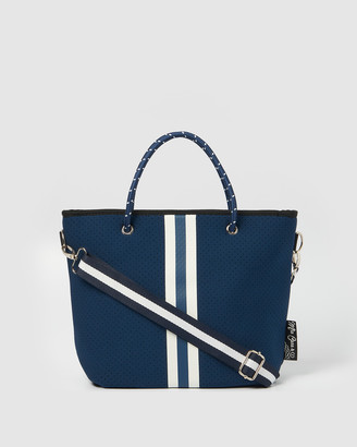 Miz Casa and Co - Women's Navy Tote Bags - Beverly Neoprene Mini Tote Bag - Size One Size at The Iconic